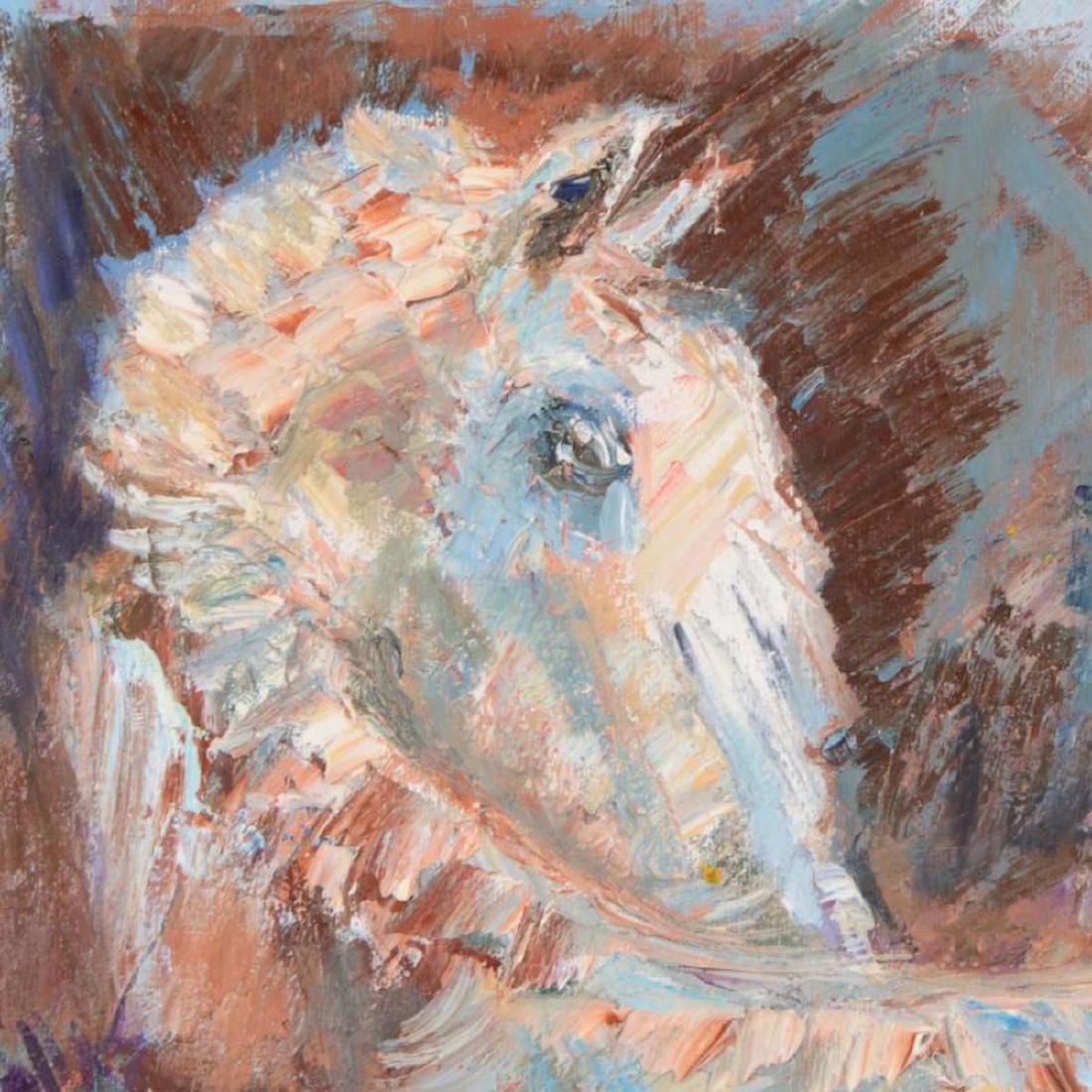 "Elliot Fallas - ""Palomino Horse"" Original Oil Painting - 2"