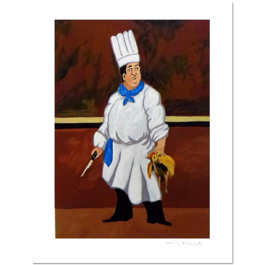 "Guy Buffet - ""Chef Louis"" Limited Edition Serigraph;"