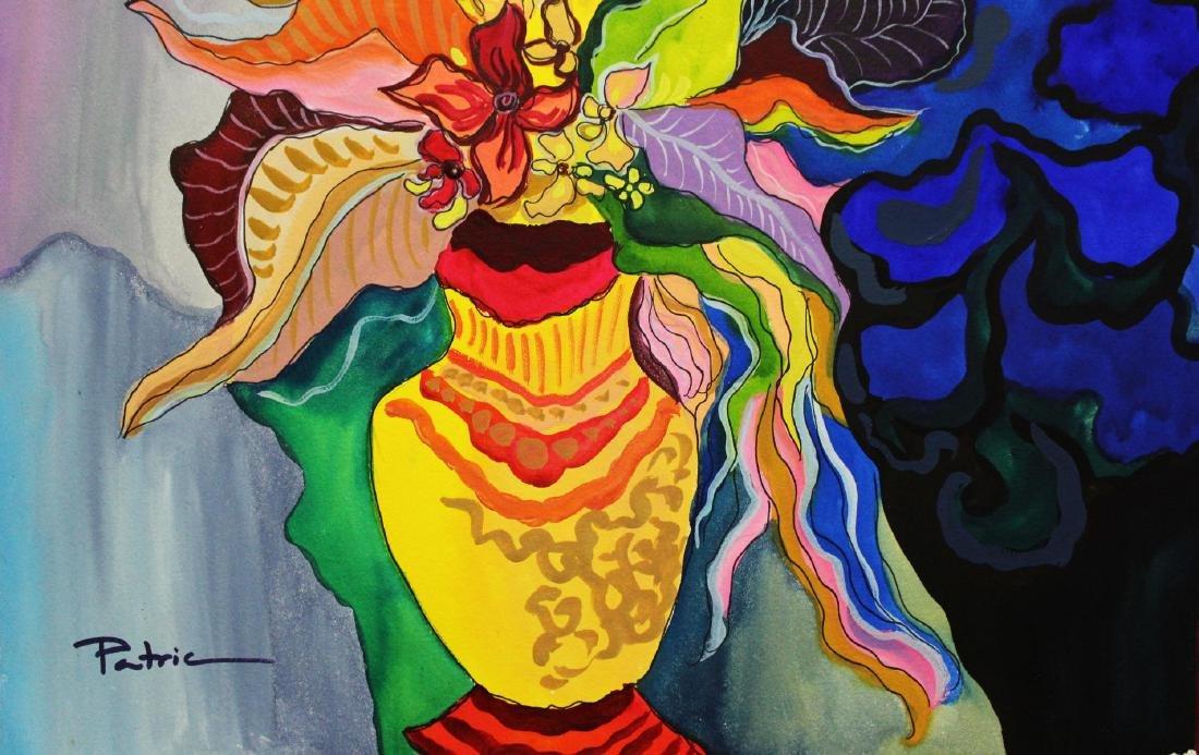 "Patricia Govezensky- Original Watercolor ""Parisian - 2"