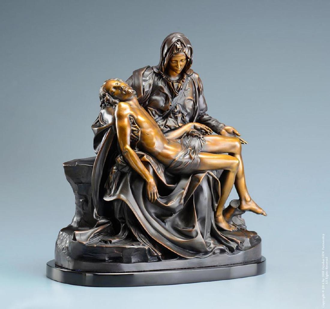 """Michelangelo """"Pieta†( 1/2 life size) Lost Wax Bronze - 2"""