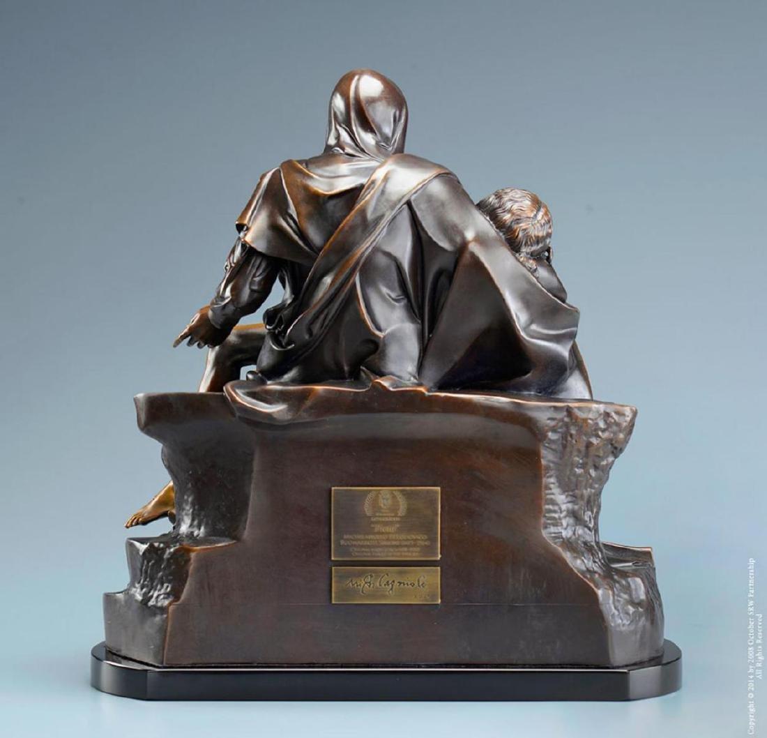 """Michelangelo """"Pieta†( 1/2 life size) Lost Wax Bronze - 3"""
