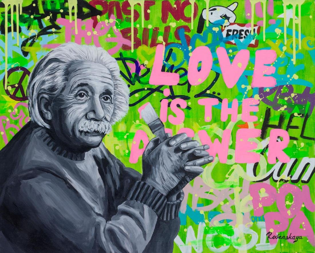 "Nastya Rovenskaya- Original Giclee on canvas ""Love is"