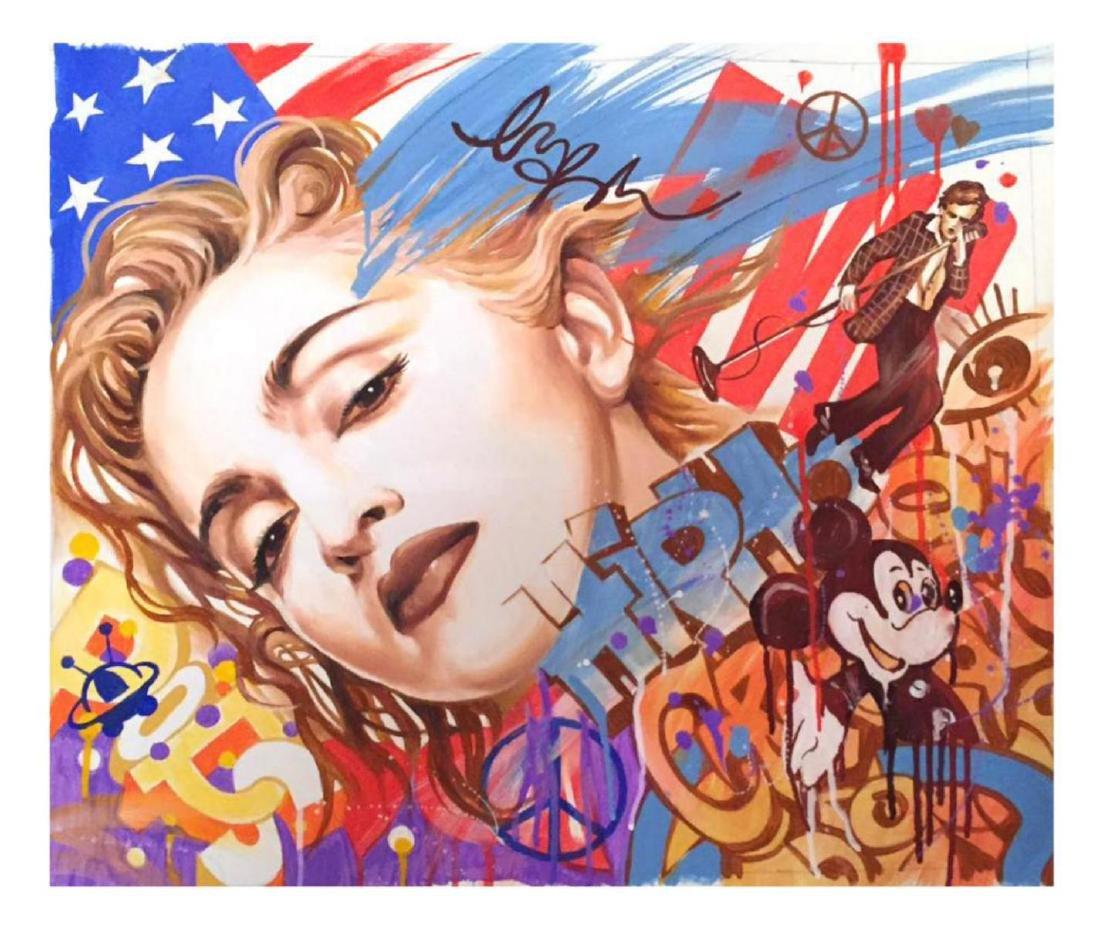 "Nastya Rovenskaya- Original Oil on Canvas ""America"""