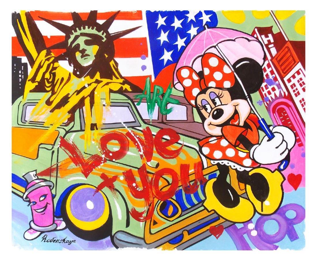 "Nastya Rovenskaya- Original Oil on Canvas ""America"