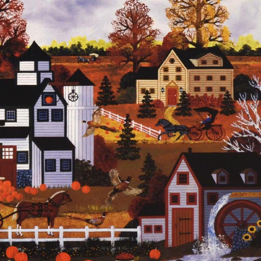 """Textures of Autumn"" Limited Edition Lithograph by Jane - 2"