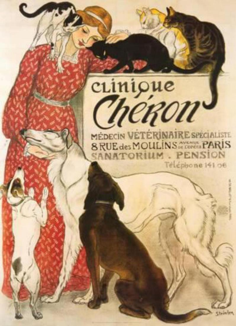 """Théophile Alexandre Steinlen """"Clinique Cheron"""" Offset"""
