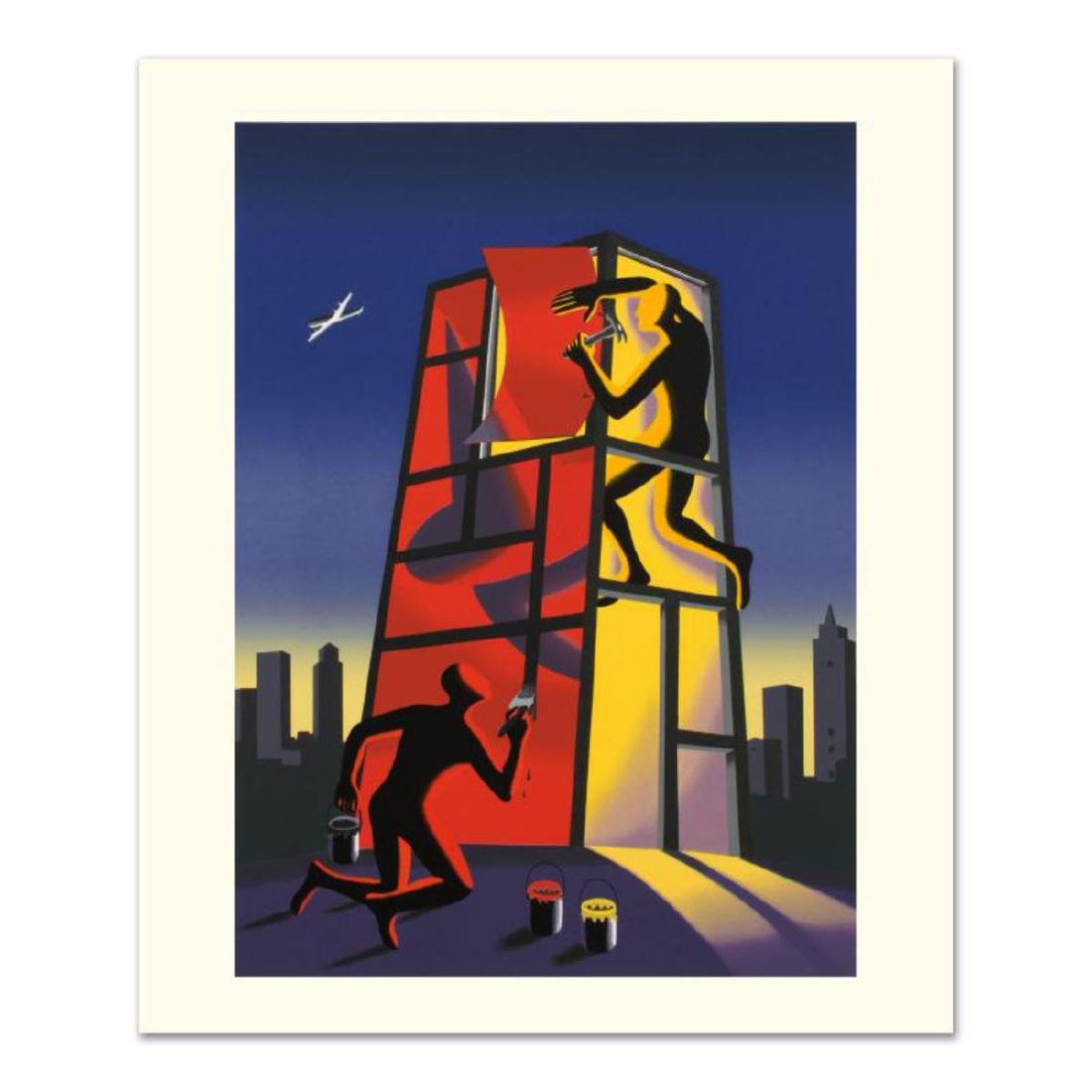 """Mark Kostabi - """"Panic In The Minefield"""" Limited Edition"""