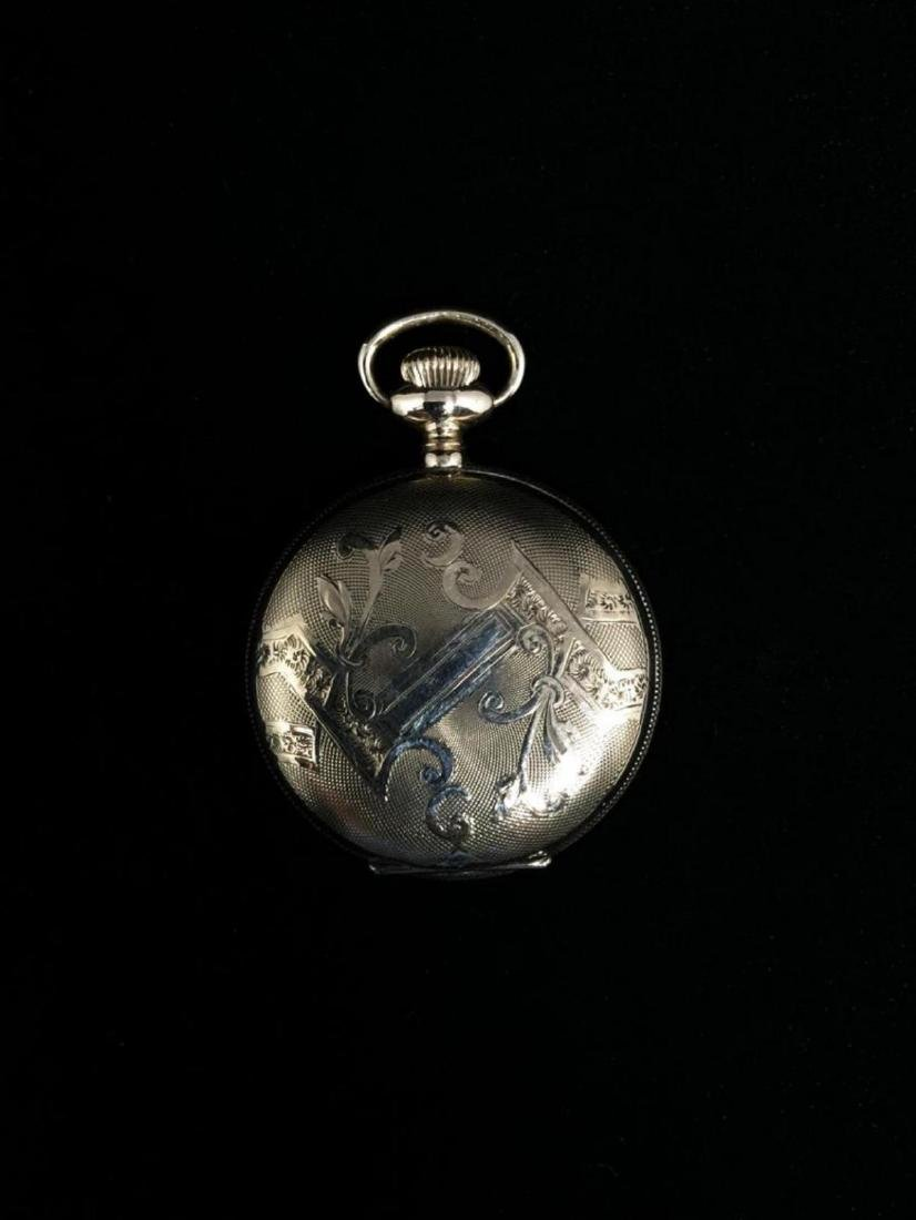 14KGF 0's Waltham 7J Hunter Case Pocket Watch c-1902 - 3
