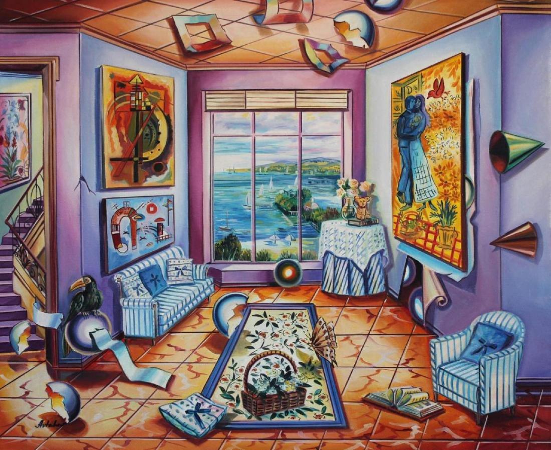 "Alexander Astahov Original Oil on Canvas ""The Port"""