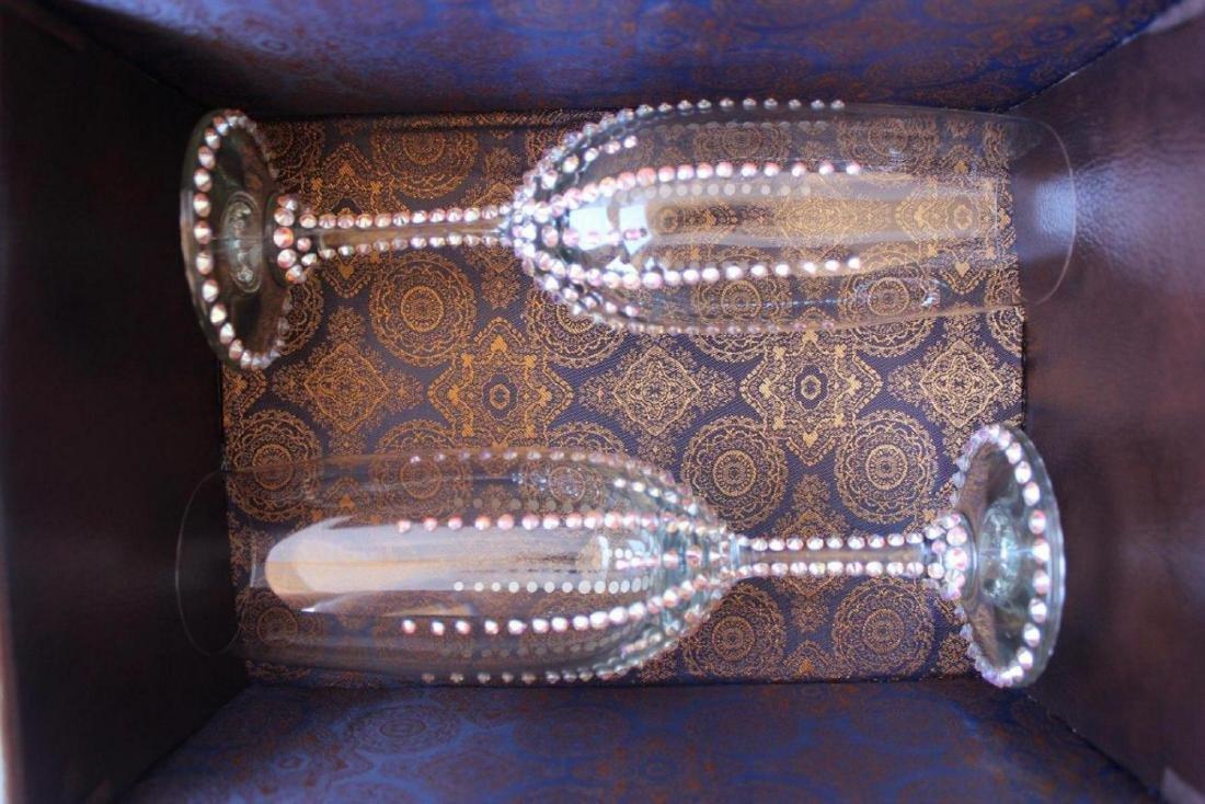 Champagne glasses with Genuine Swarovski Crystals Set - 2