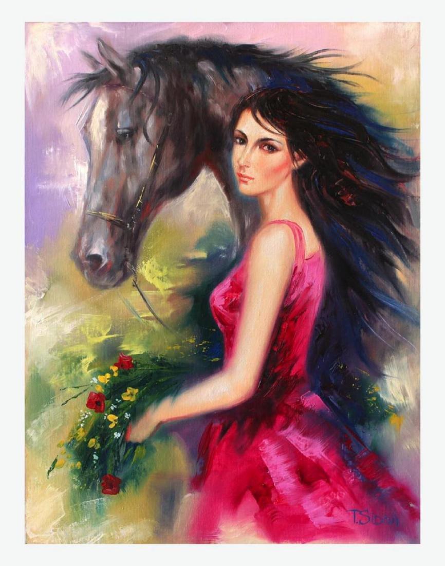 Taras Sidan Original Oil On Canvas- Lady of the West
