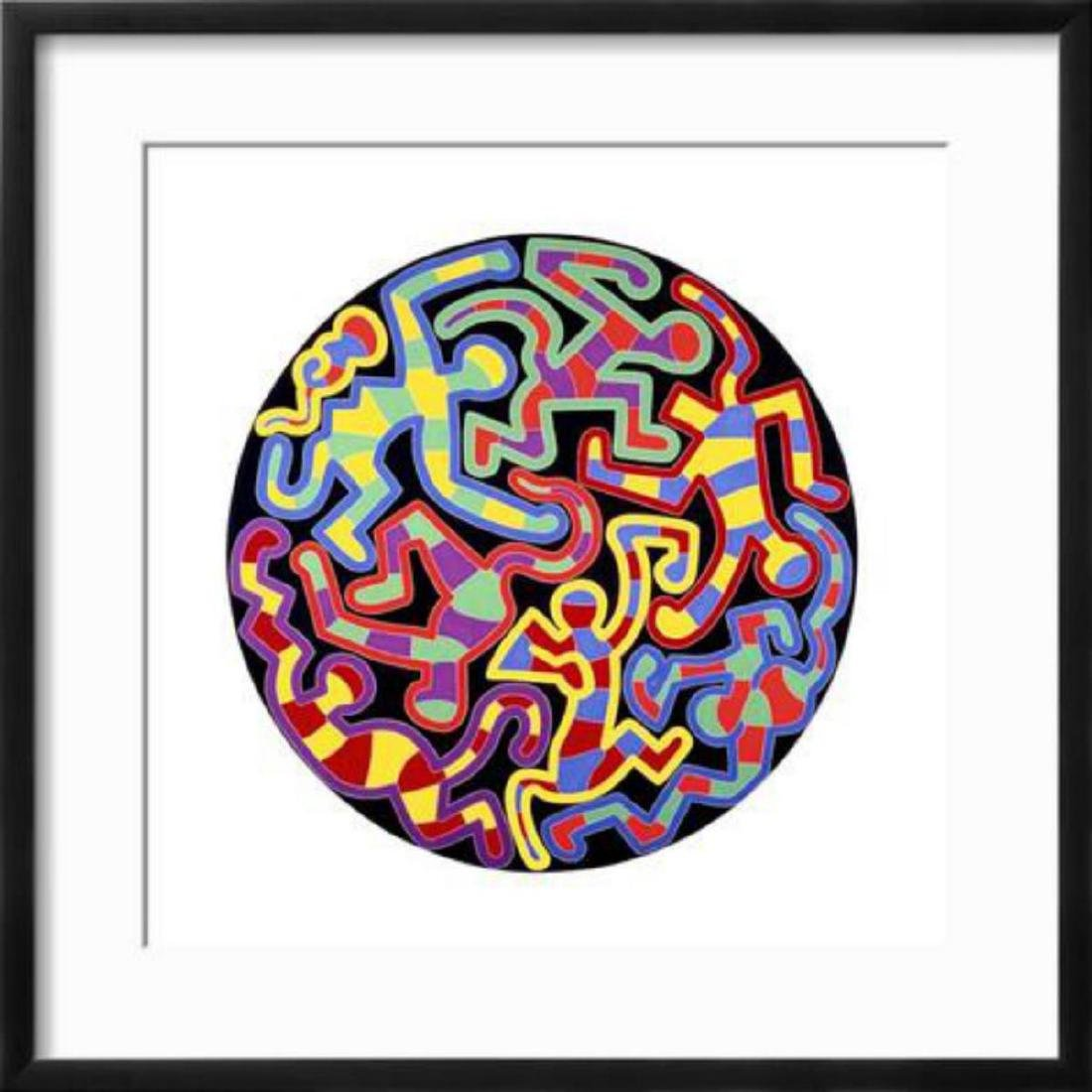 "Keith Haring ""Monkey Puzzle, 1988"" Custom Framed"