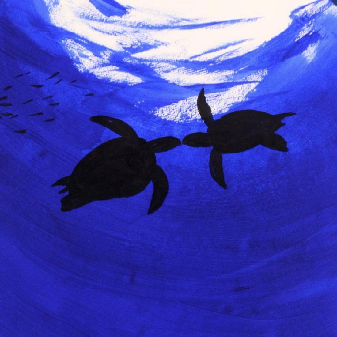 "Wyland -""Two Turtles"" Framed Original Watercolor - 2"