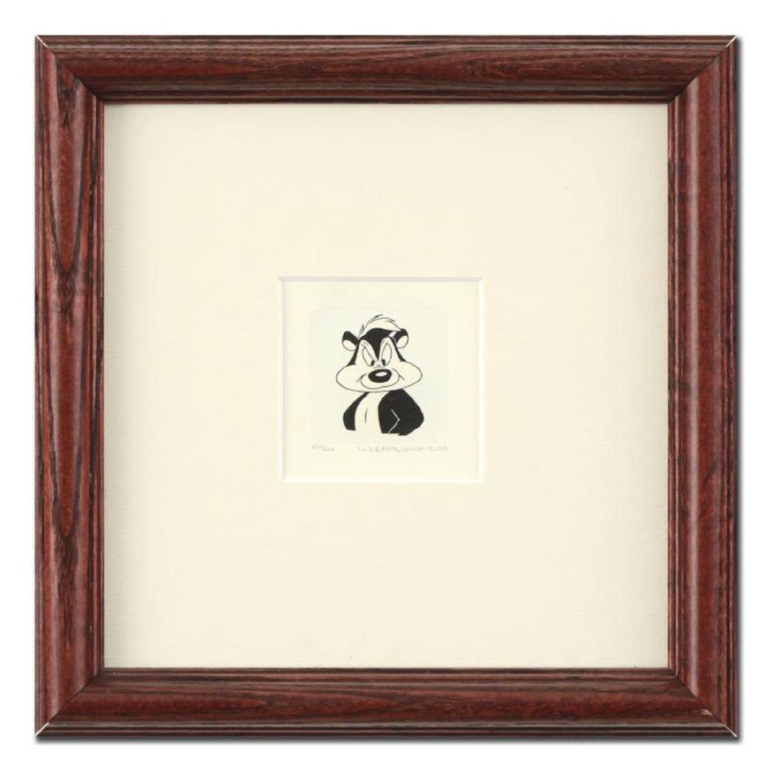 """Pepe Le Pew"" Framed Limited Edition Etching with"