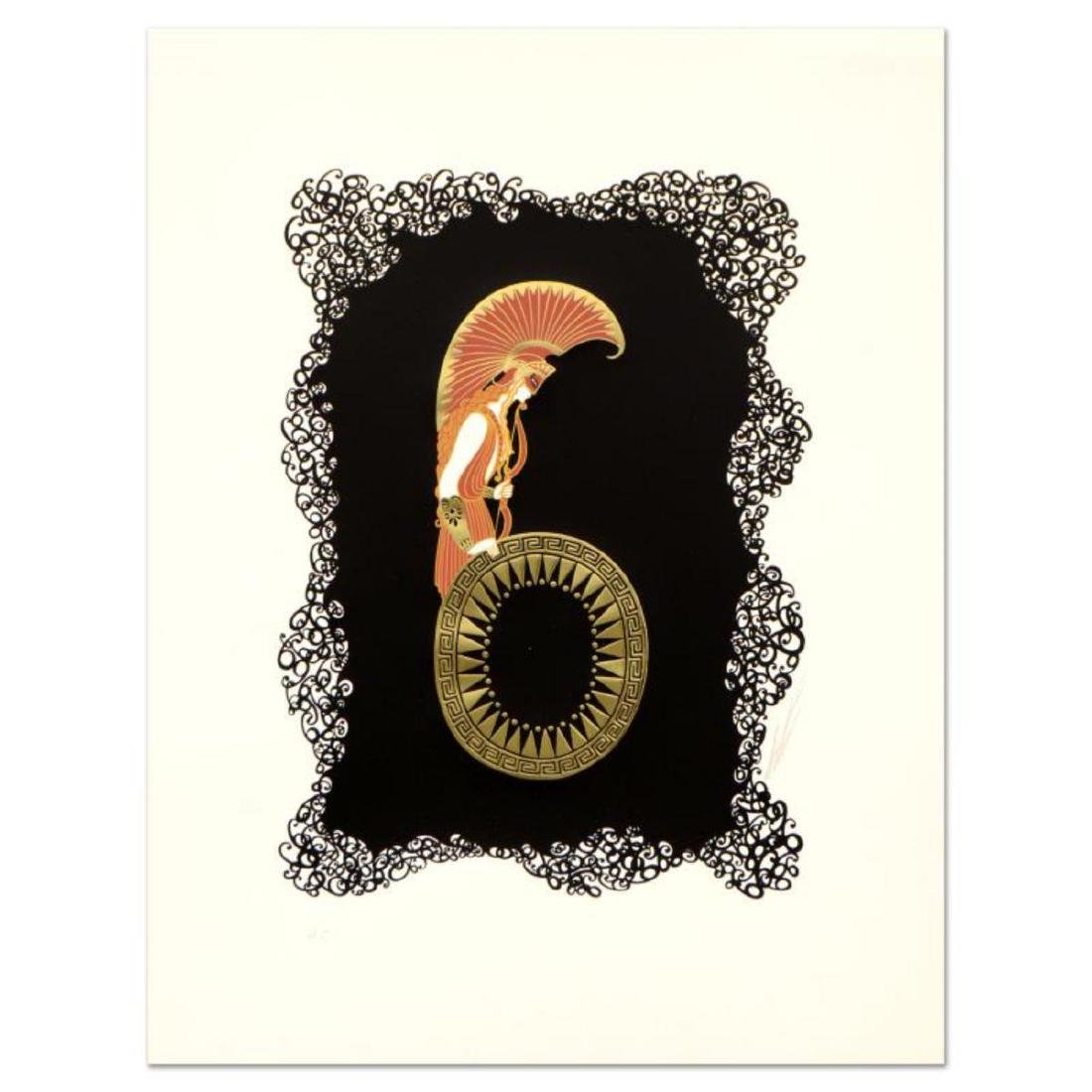 "Erte (1892-1990) - ""Numeral 6"" Limited Edition"