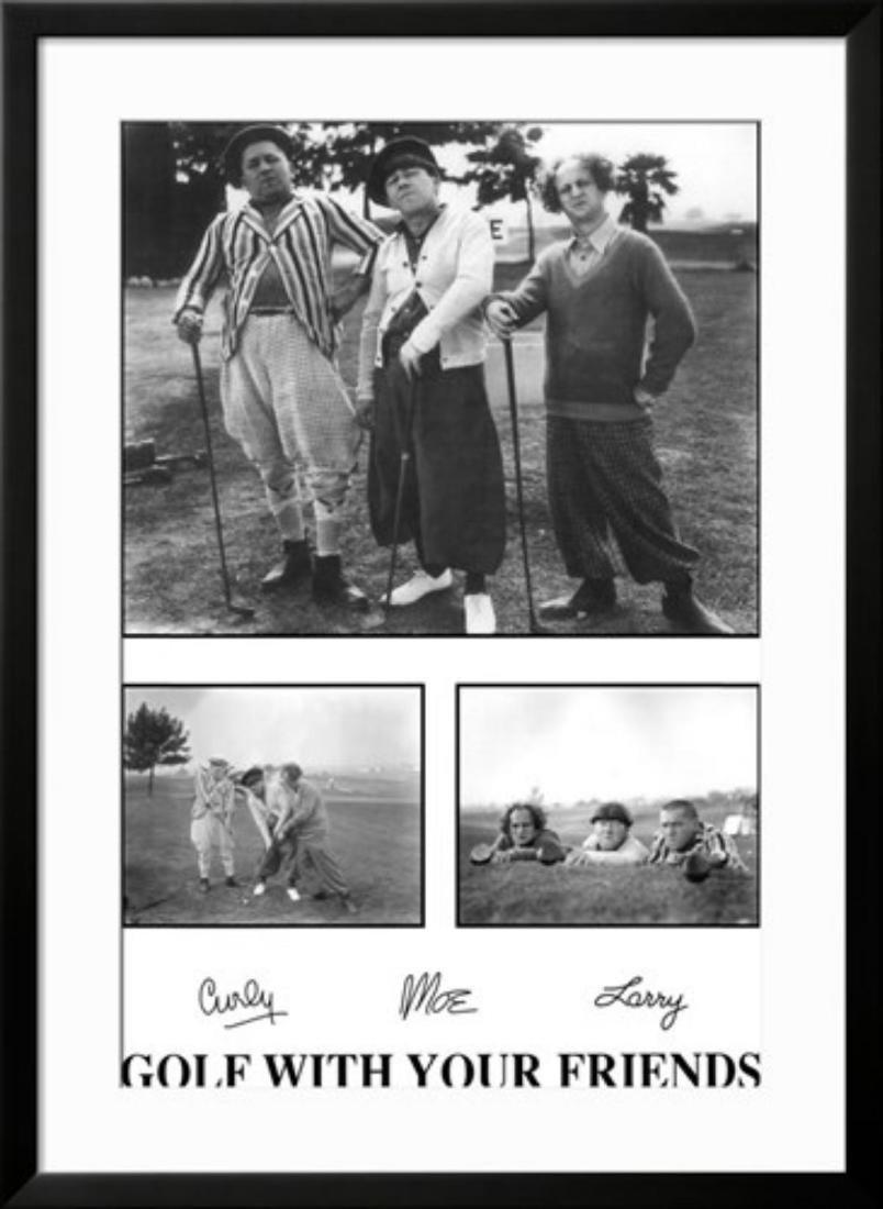 The Three Stooges Custom framed Poster