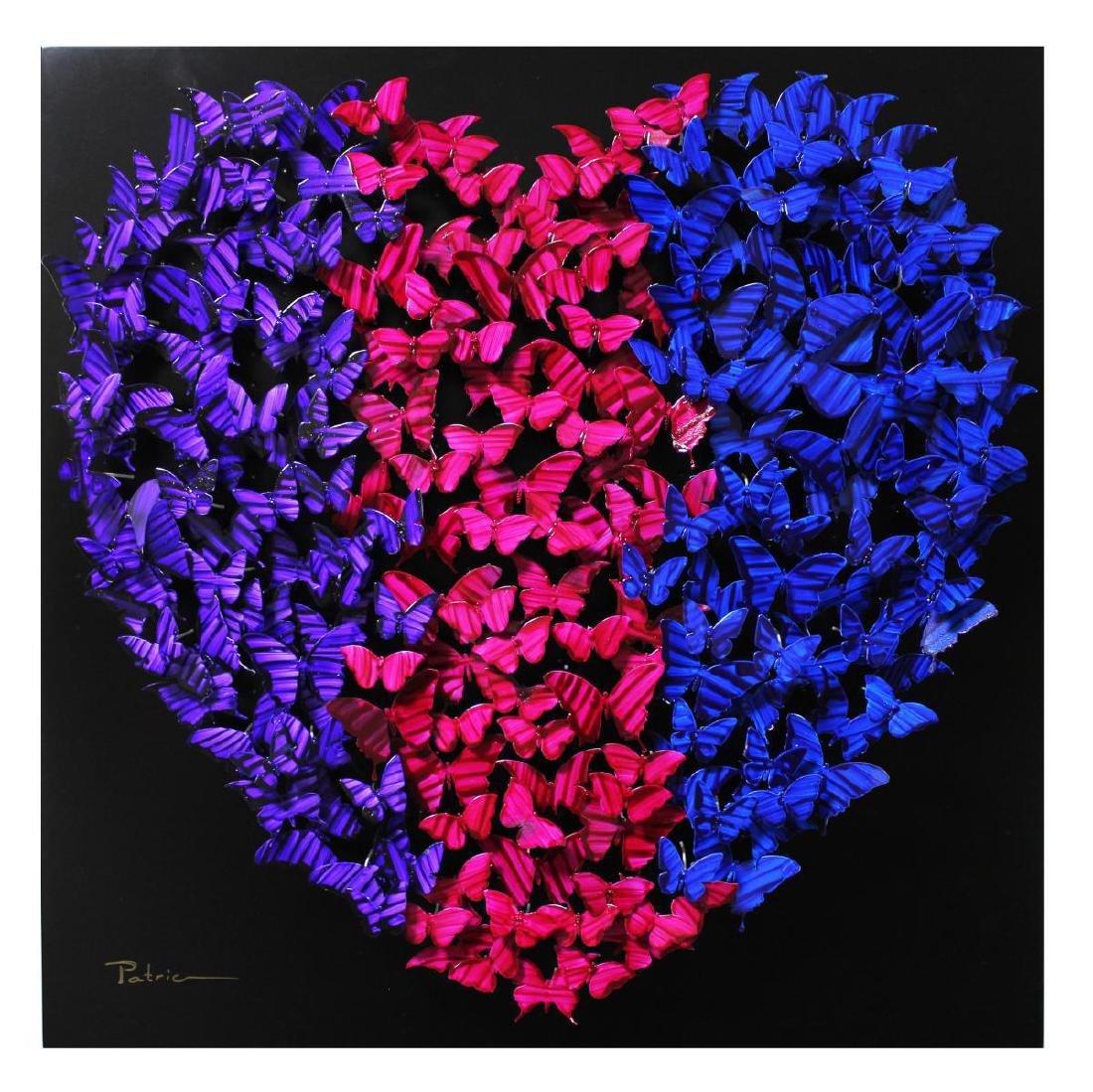 "Patricia Govezensky- Original 3D Metal Art ""Heart"""