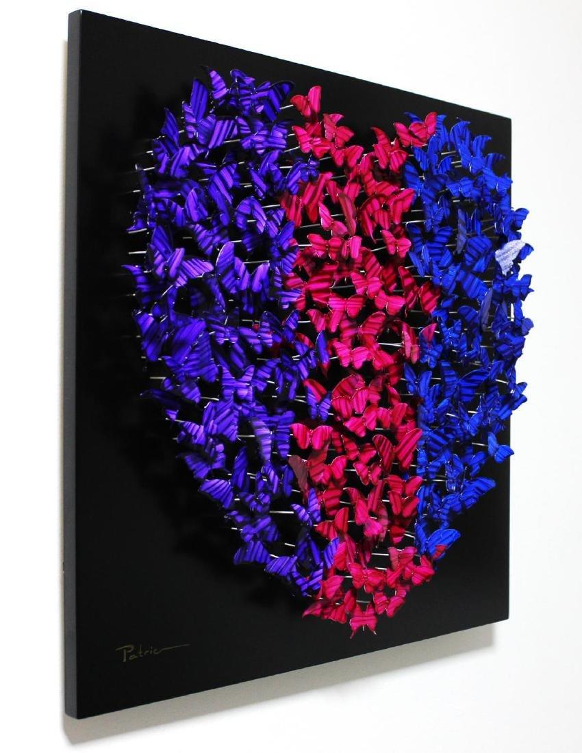 "Patricia Govezensky- Original 3D Metal Art ""Heart"" - 2"