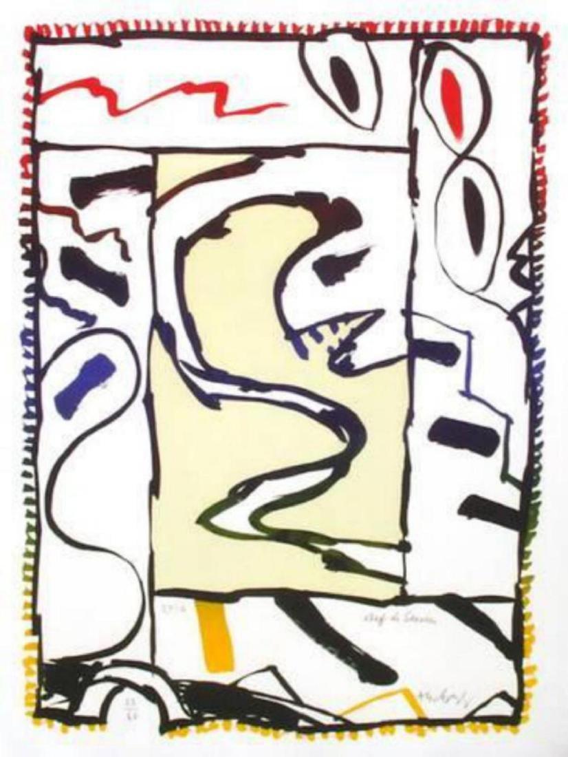 "Pierre Alechinsky ""Chef de service"" Intaglio Print with"