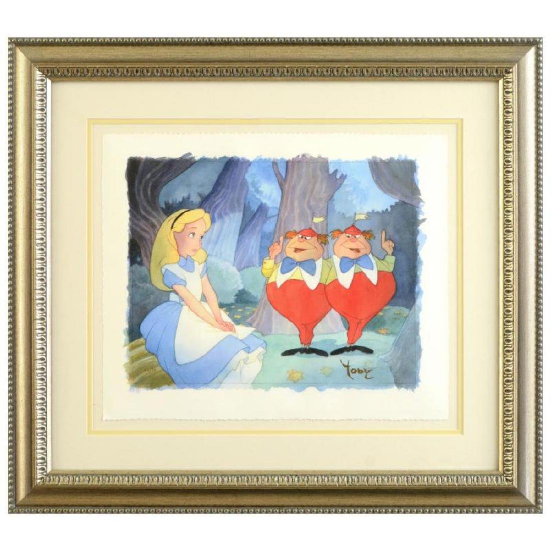 """Toby Bluth (1940-2013) - """"Contrarywise"""" Framed Limited"""