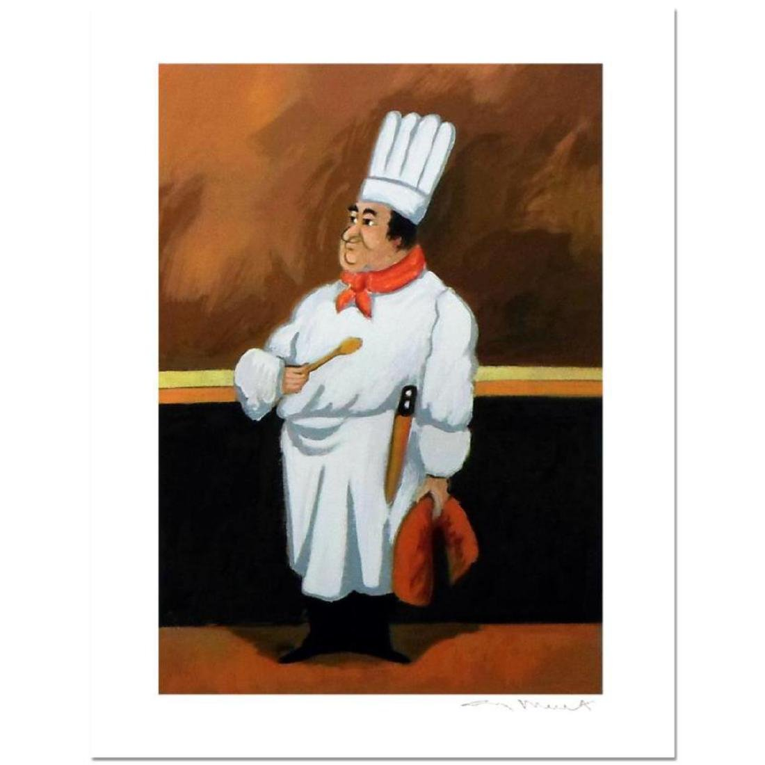 """Guy Buffet - """"Chef Albert"""" Limited Edition Serigraph;"""