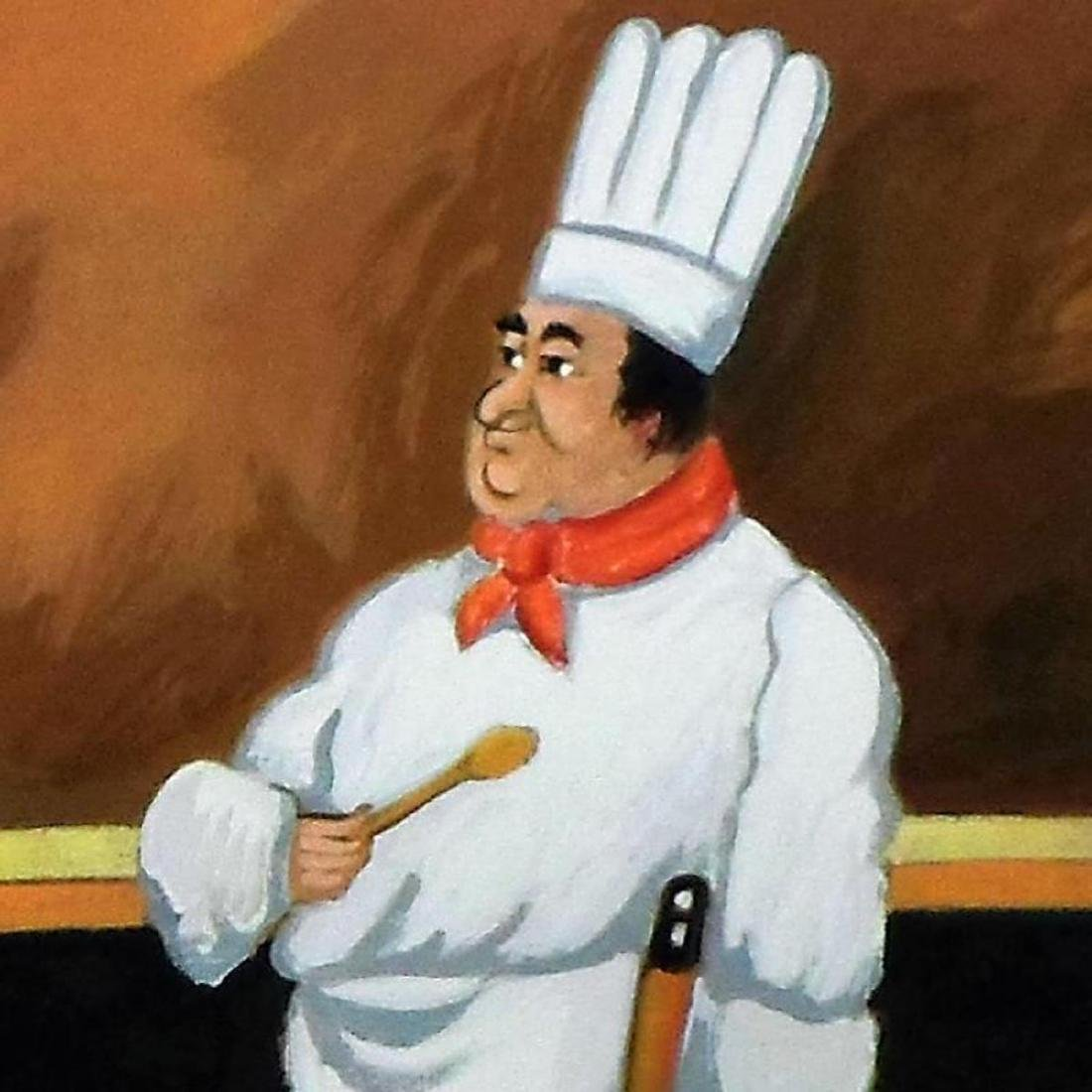"""Guy Buffet - """"Chef Albert"""" Limited Edition Serigraph; - 2"""