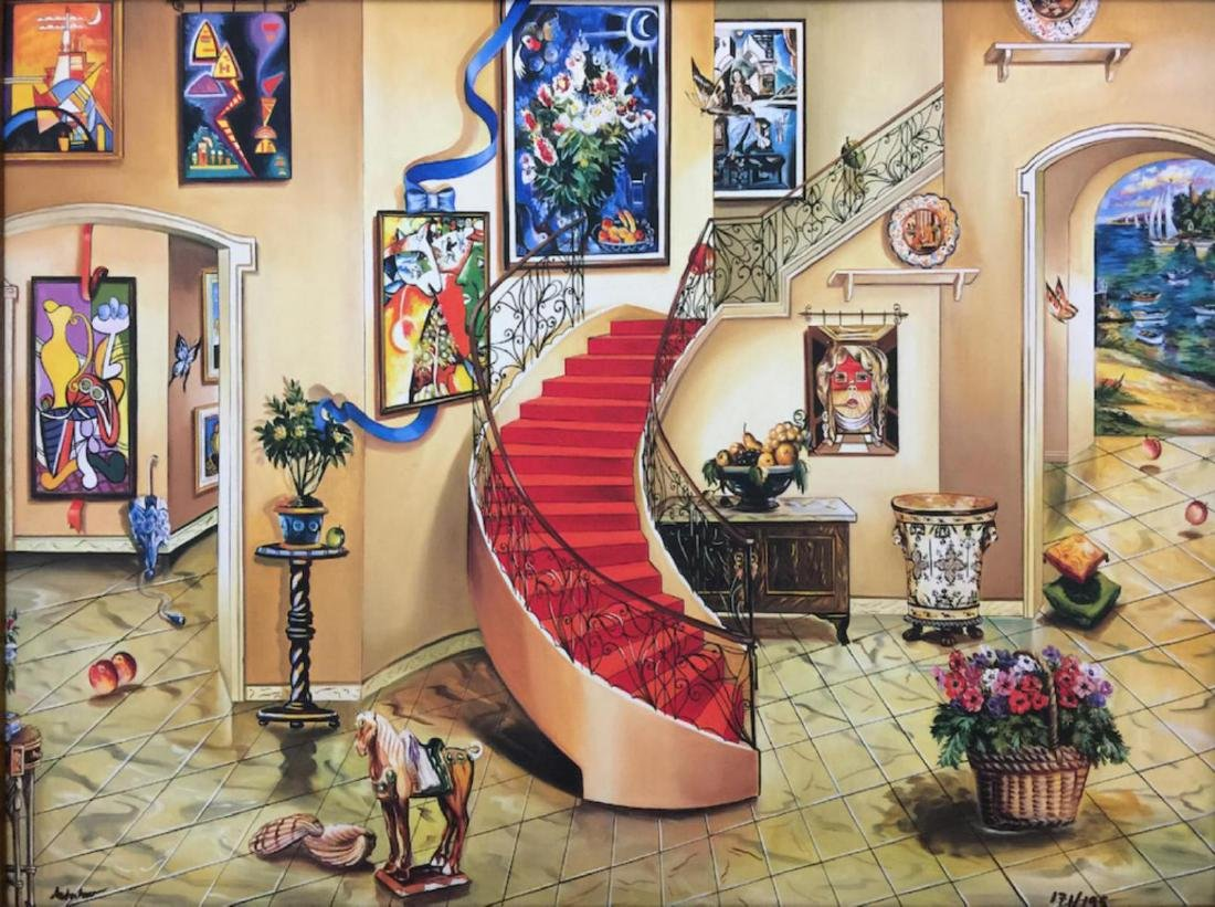 Alexander Astahov Sold Out Framed HS/N Giclee on Canvas - 2