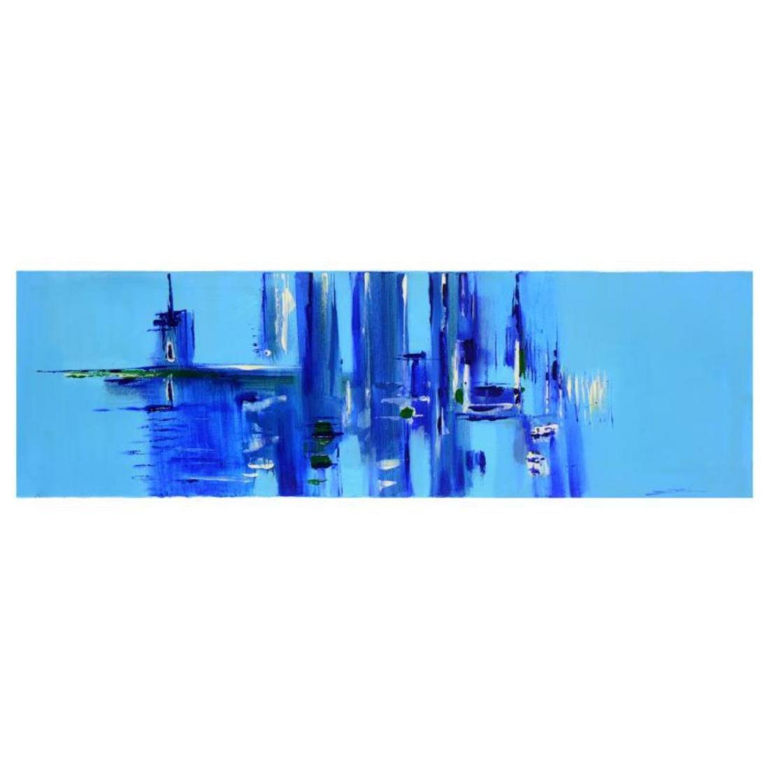 "Roberto Donatelli - ""Blue"" Original Oil Painting on"