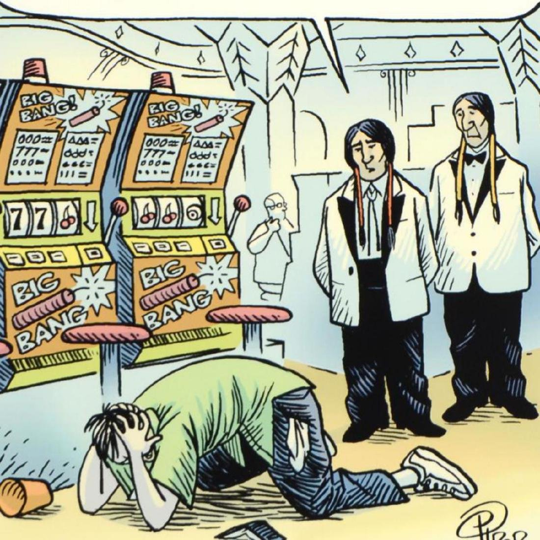 "Bizarro! ""Casino Indians"" is a Framed Limited Edition - 2"