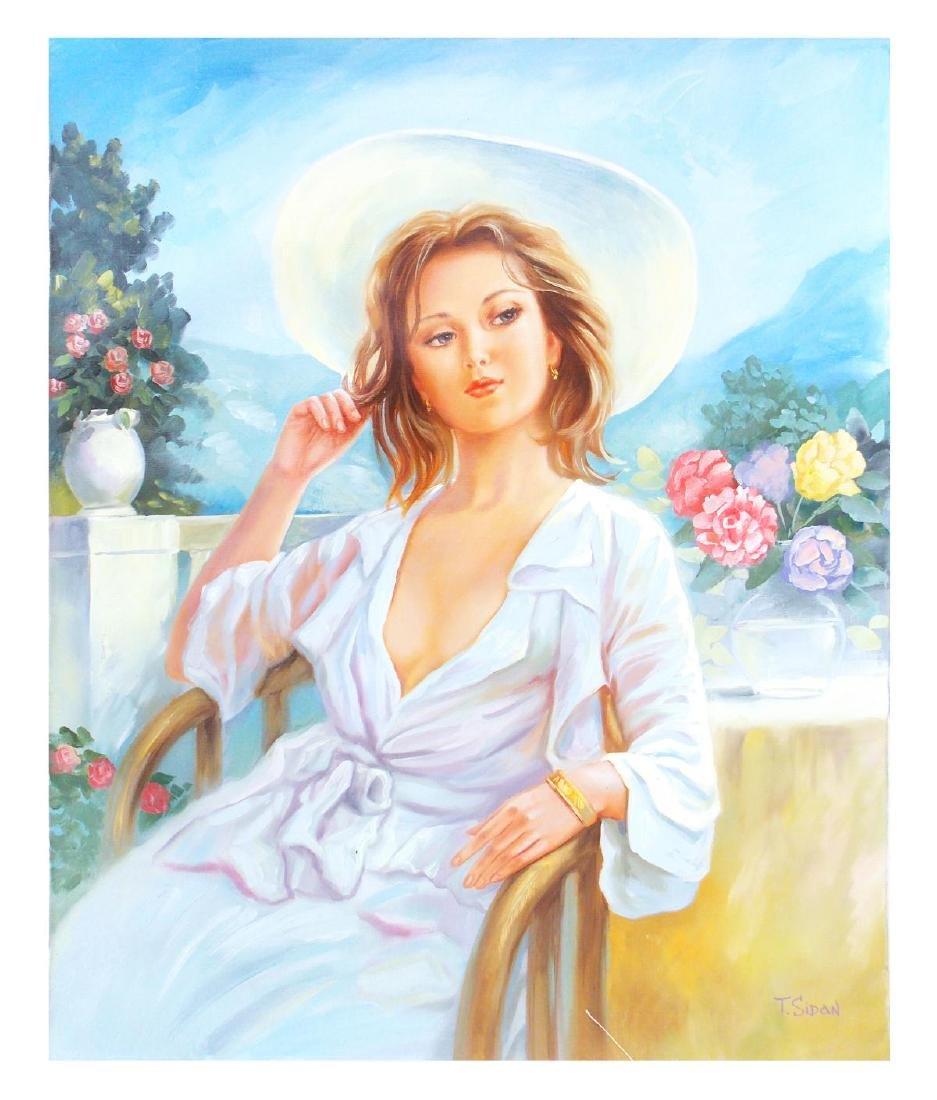 "Taras Sidan- Original Oil on Canvas ""Vacation in"