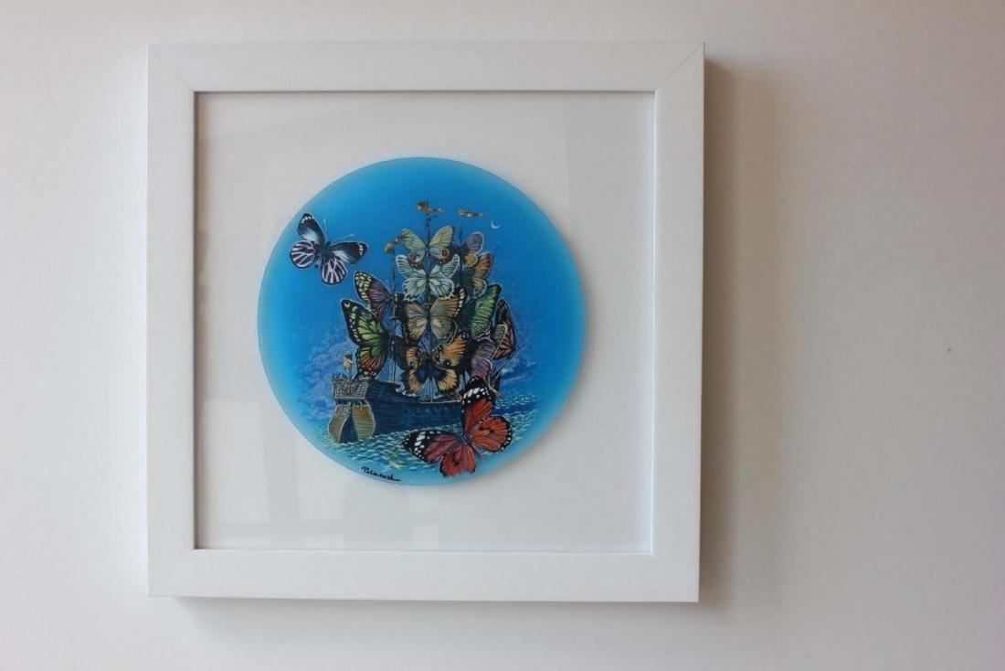 Surrealism Framed Ori. Acrylic Sculpture Eugene - 3