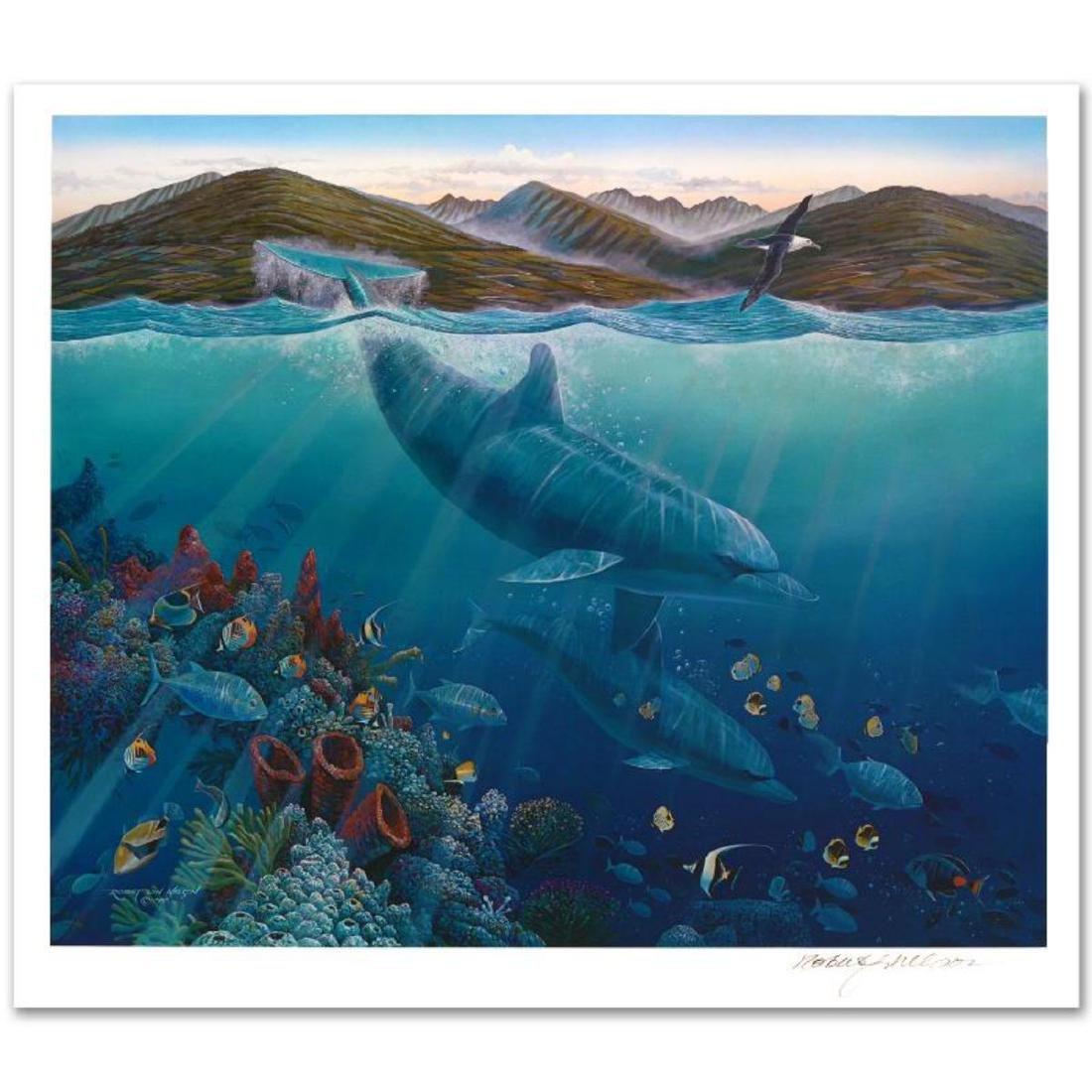 """""""Lahaina Sea Flight"""" Limited Edition Mixed Media by"""