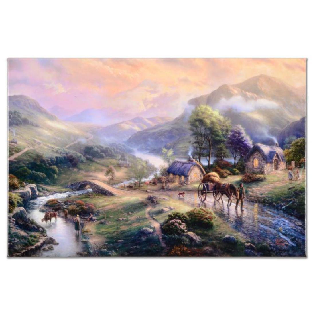 "Thomas Kinkade (1958-2012) - ""Emerald Valley (Emerald"