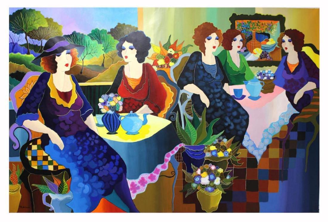 "Patricia Govezensky- Original Acrlyc on Canvas ""French"