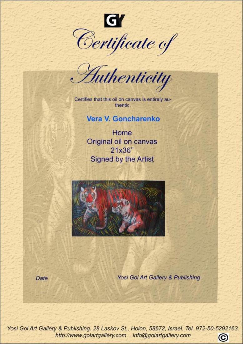 "Vera V. Goncharenko ""Home"" Original Oil on Canvas - 3"