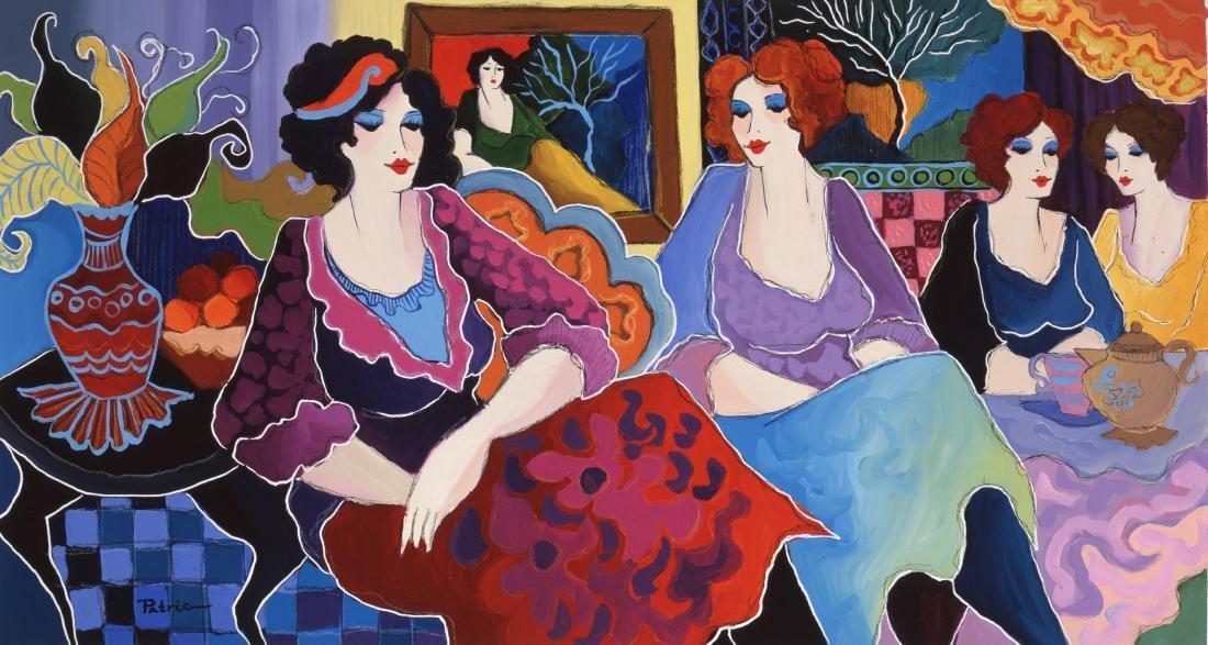 "Patricia Govezensky- Giclee on Canvas ""Cafe Laguna"""