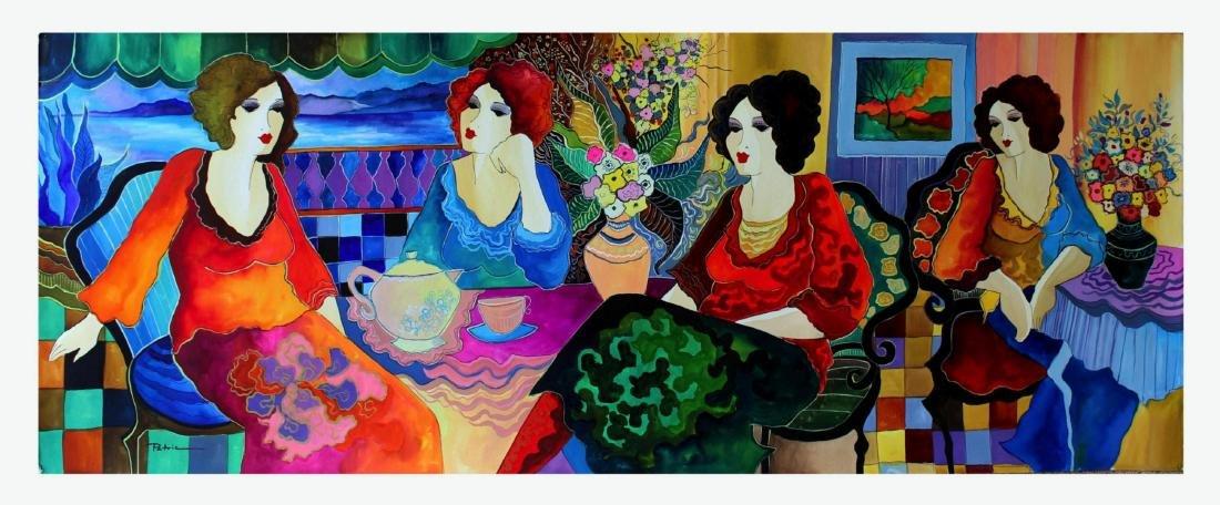 Patricia Govezensky Original Watercolor Ladies In My