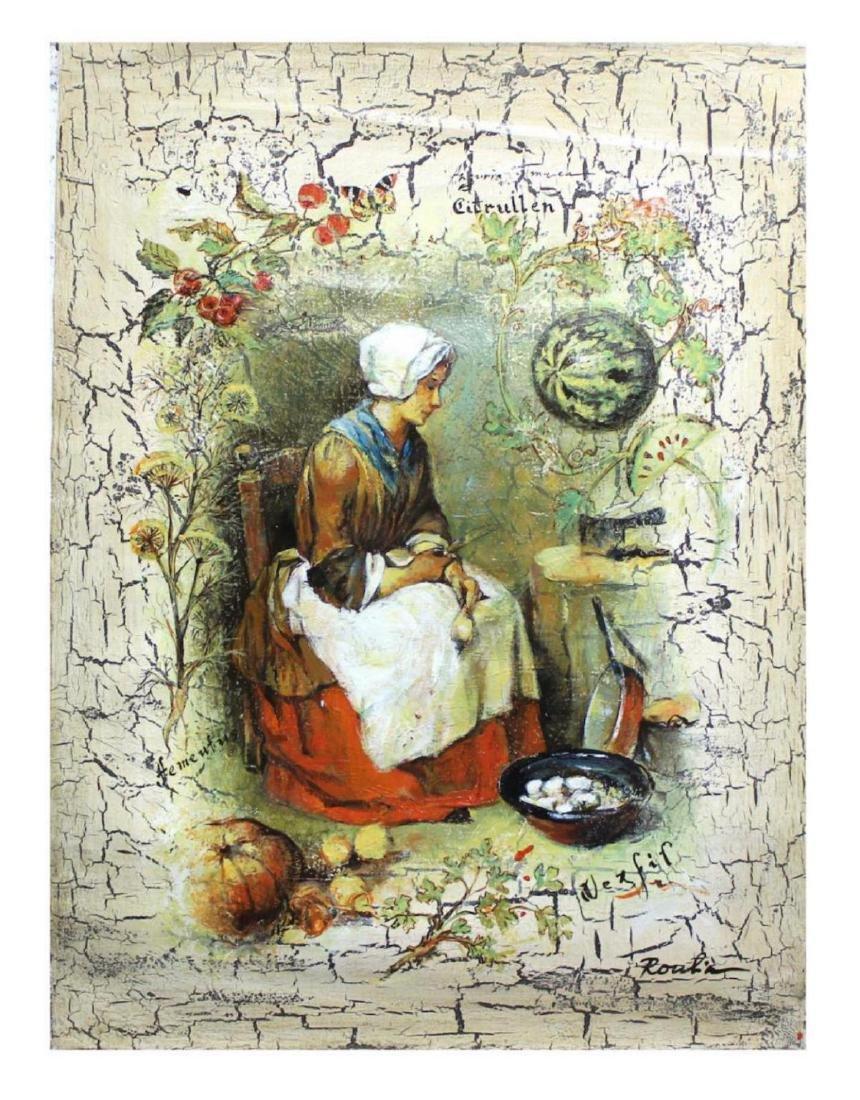 Olga Roubin Original RareAcrylic on Canvas