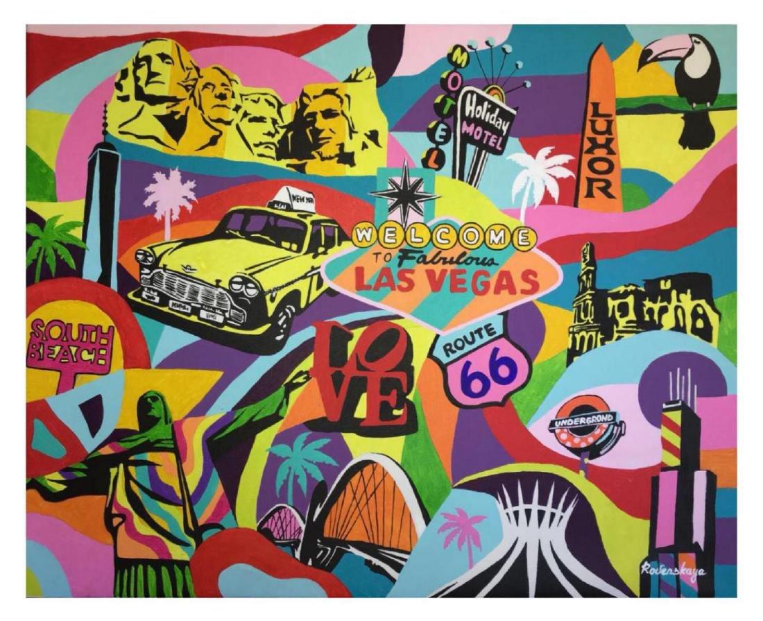 "Nastya Rovenskaya- Original Oil on Canvas ""Casino Life"""