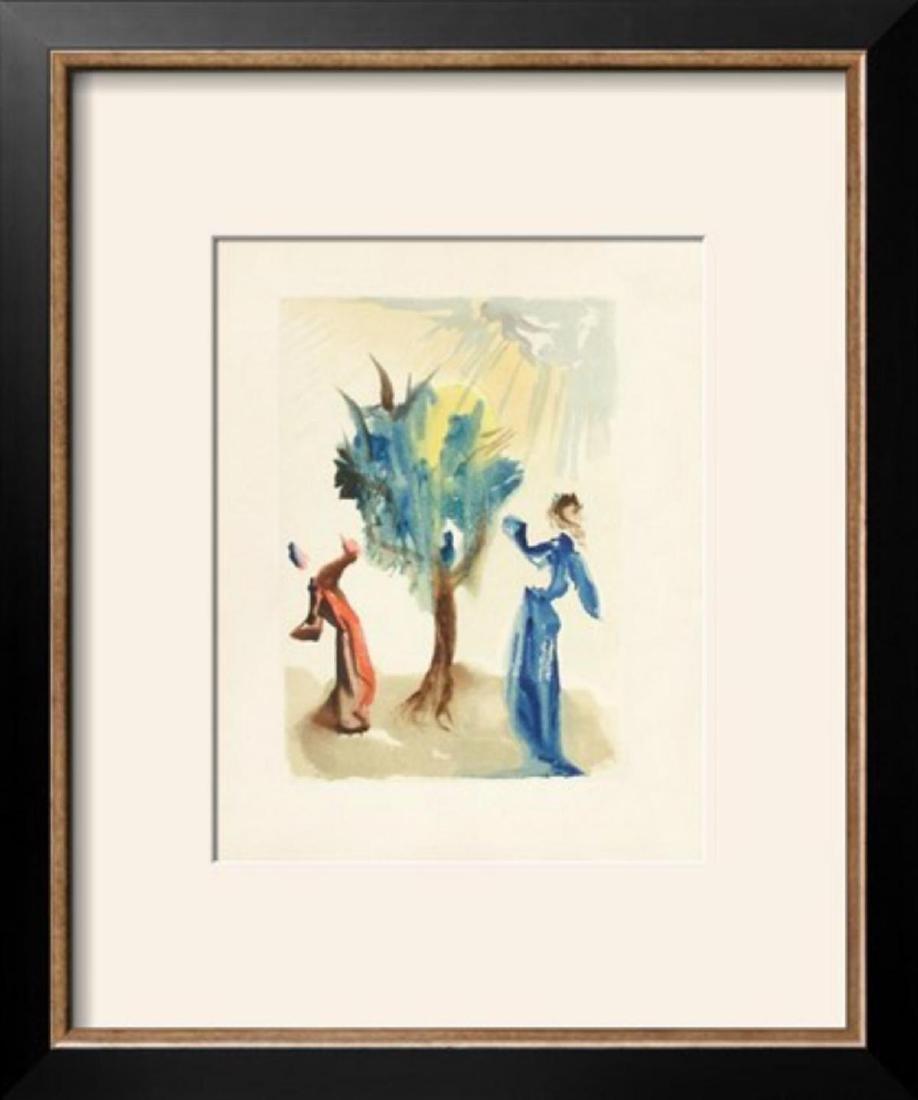"Salvador Dali ""Divine Comedie, Purgatoire 24: L'arbre"