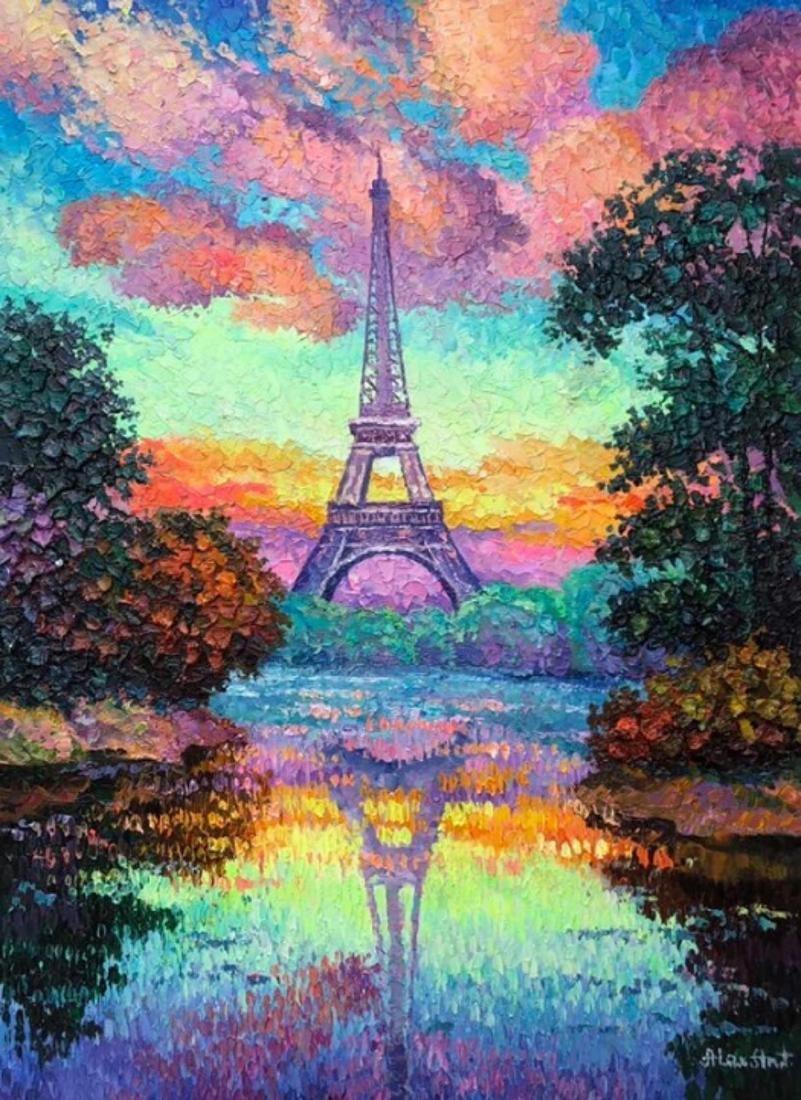 "Alexander Antanenka- ""Paris Sky"" Original Acrylic on"