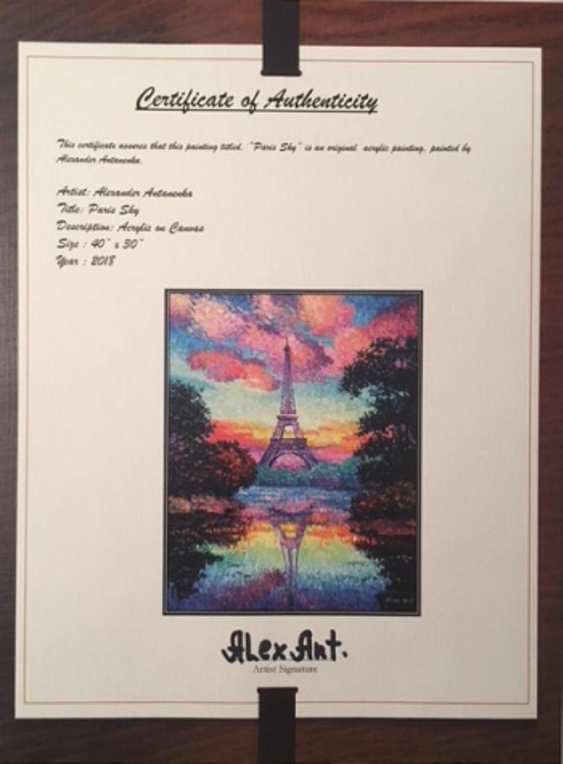 "Alexander Antanenka- ""Paris Sky"" Original Acrylic on - 2"