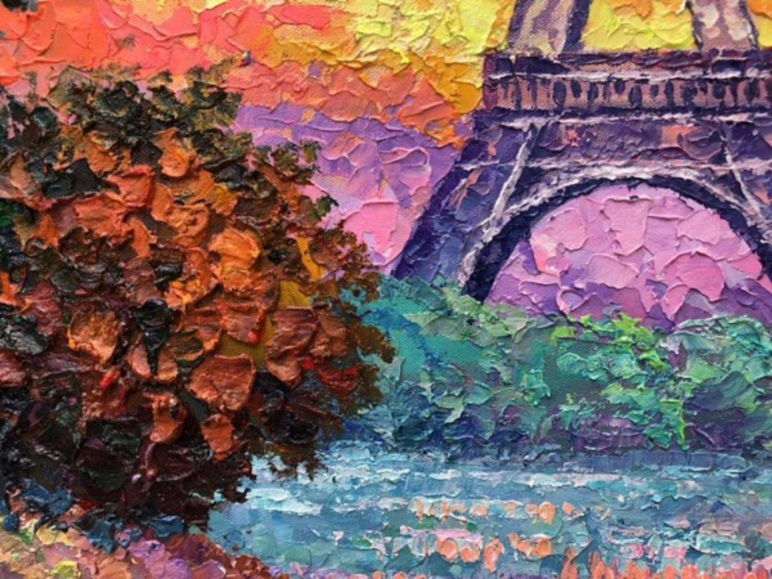 "Alexander Antanenka- ""Paris Sky"" Original Acrylic on - 3"