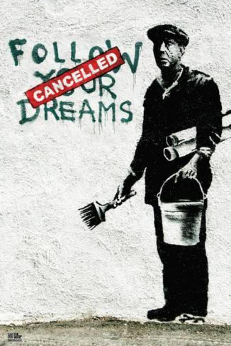 "Banksy ""Follow Your Dreams"" Offset Lithograph"