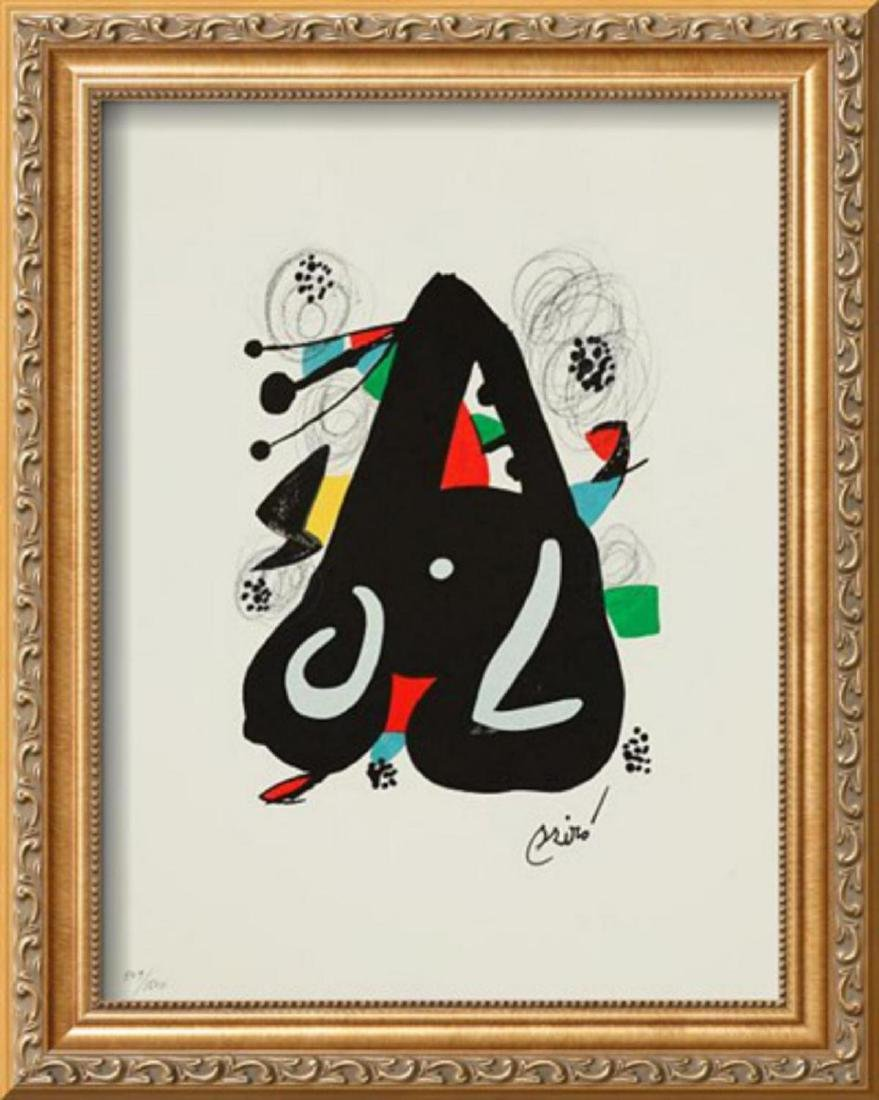 "Joan Miro ""La Melodie Acide VII"" Custom Framed"