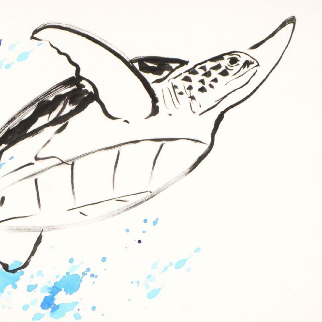 "Wyland - ""Turtle"" Framed Original Watercolor Painting, - 2"