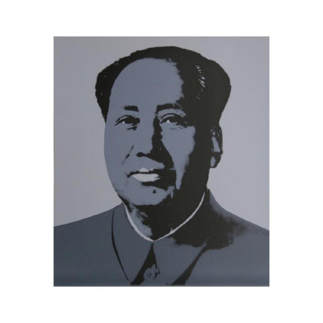 "Andy Warhol ""Mao Grey"" Silk Screen Print from Sunday B"