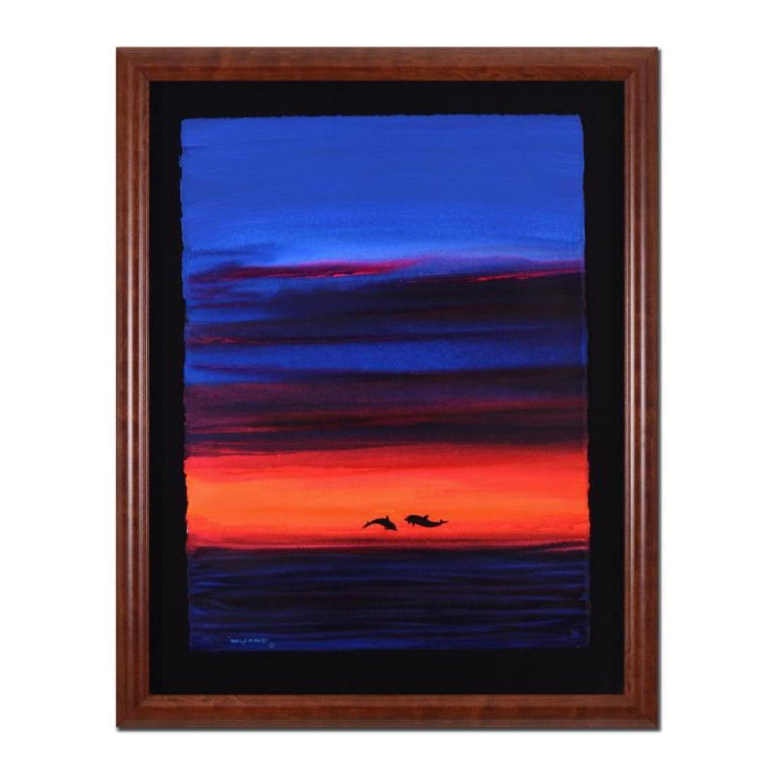 """Wyland - """"Abstract"""" Framed Original Watercolor"""