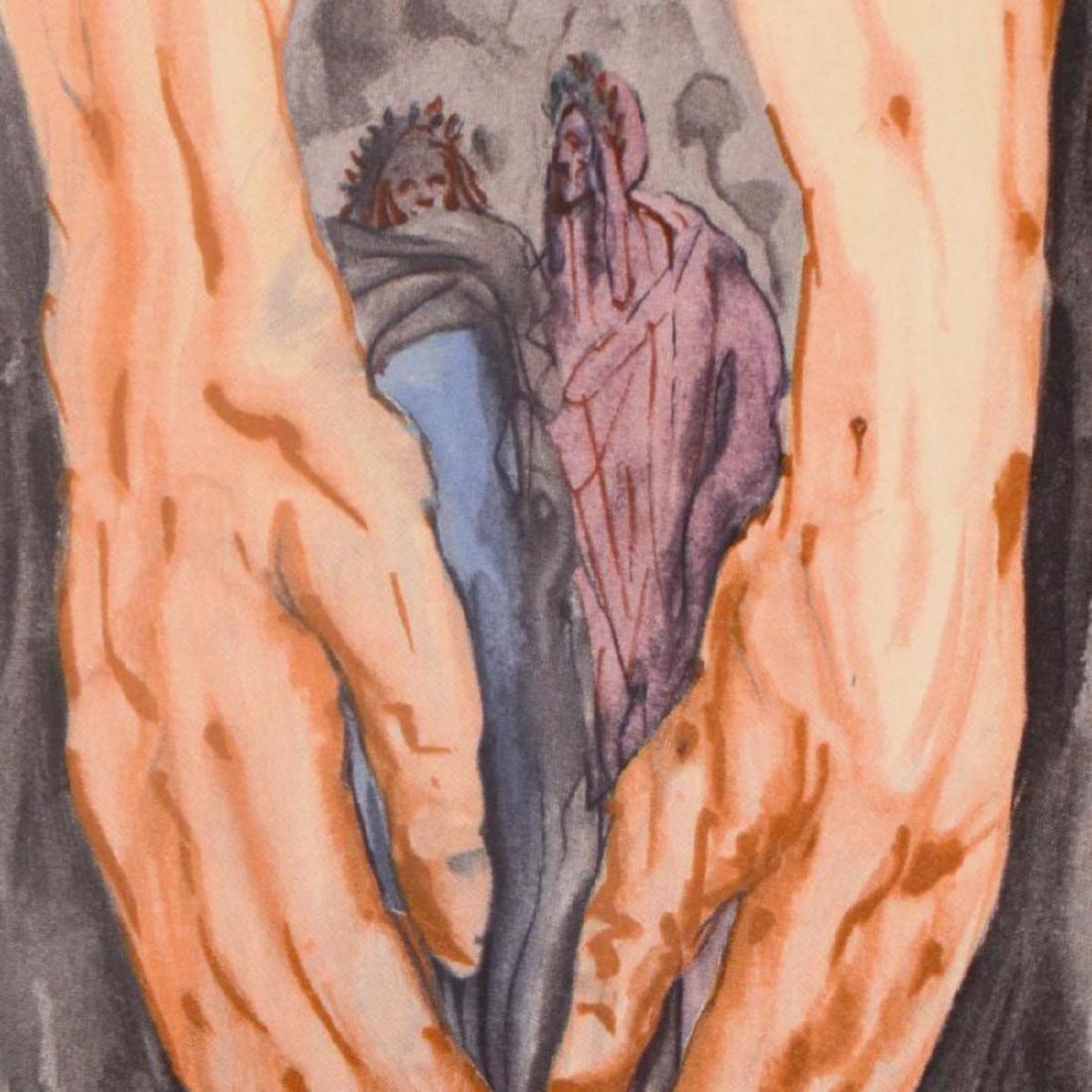 """Salvador Dali (1904-1989) - """"Mount of Geryon Inferno - 2"""