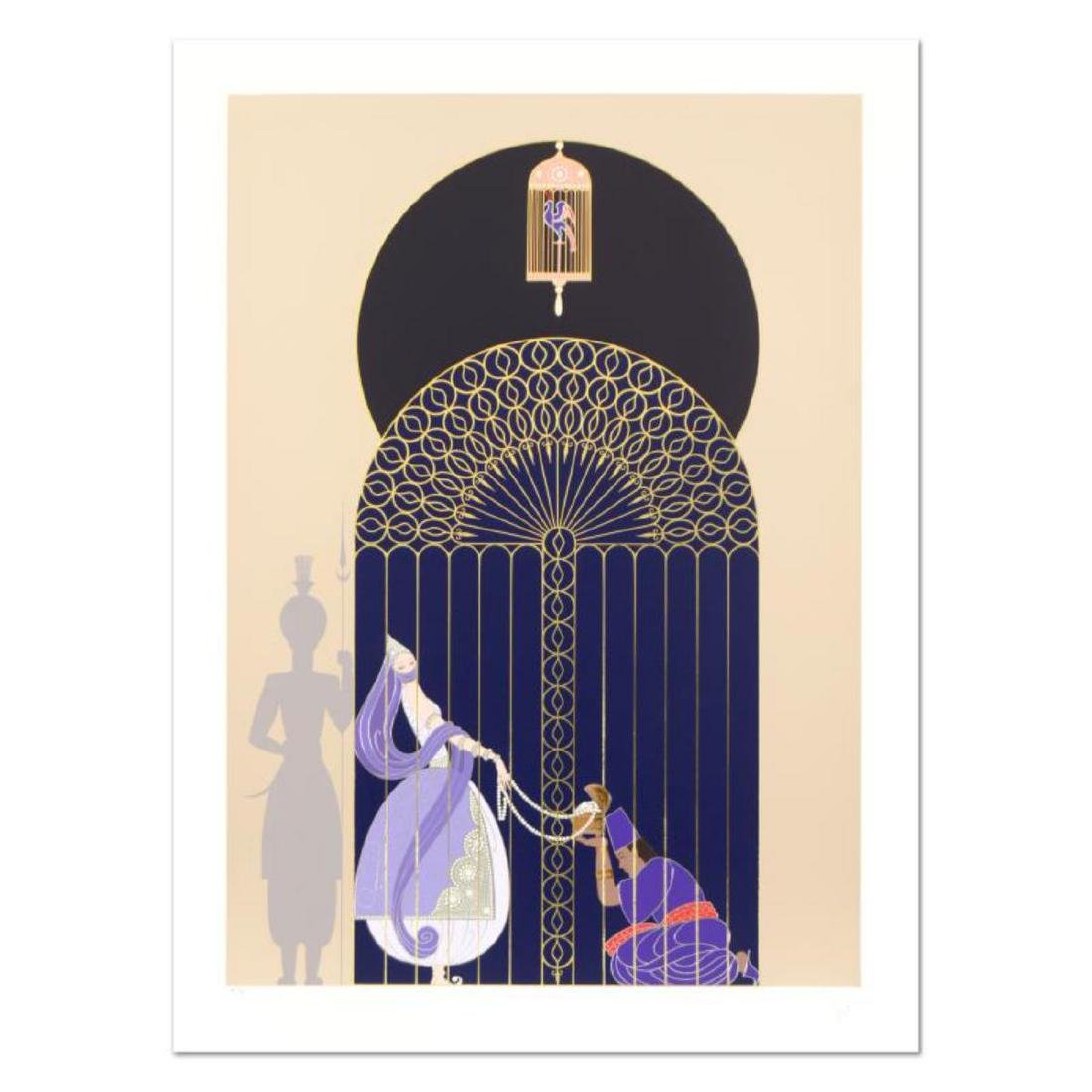 """Erte (1892-1990), """"Bird in a Gilded Cage"""" Limited"""